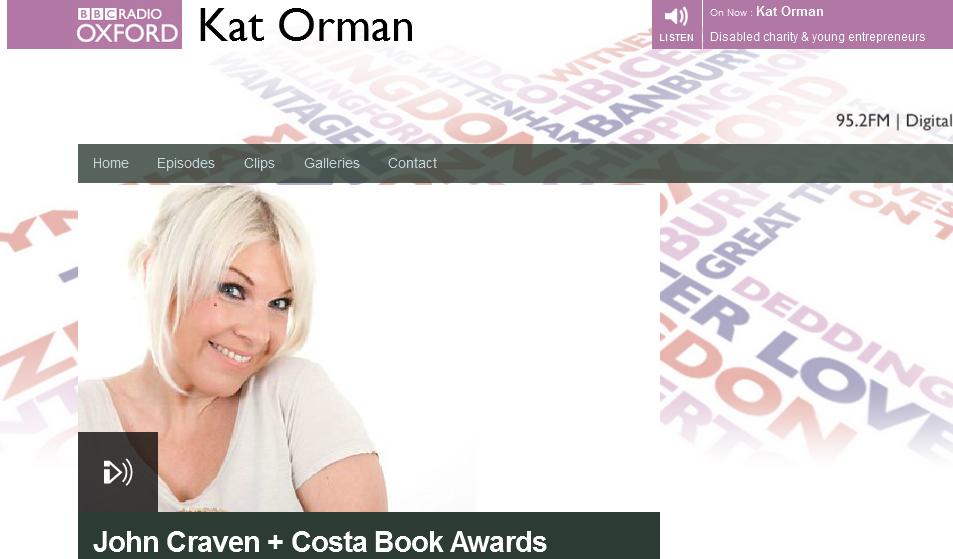 Emily speaks to Kat Orman, BBC Radio Oxford