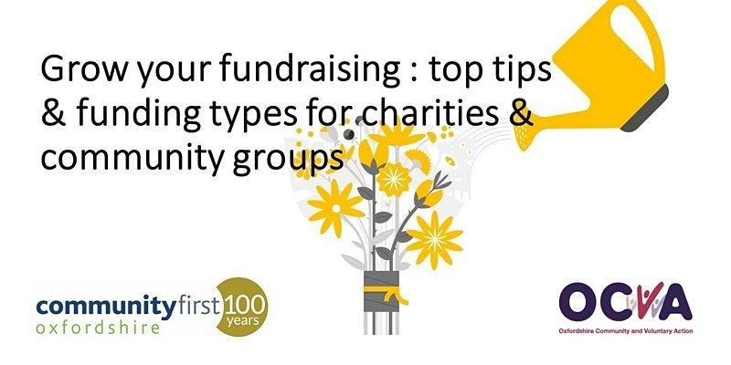 Grow your fundraising : top tips and funding types for charities and groups feature